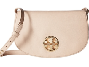 4eda60a40b63 Details about TORY BURCH Britten Flap Jamie Clutch Bag Crossbody Womens  Leather Gift Light Oak