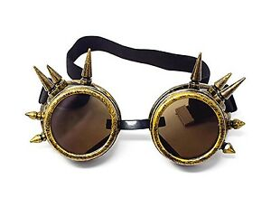 Occhiali 1x paio LENTI per Occhiali Steampunk Goggles colore BLUE