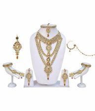 Indian Ethnic Kundan Jodha Akbar LCT White Bridal Jewelry Wedding Necklace Set