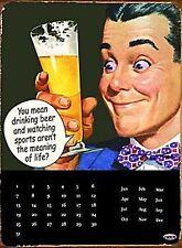 Bevuto birra e guardare lo sport parete in metallo calendario (FD) ulteriormente ridotto