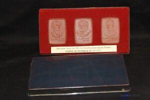 Sett-3-Stuck-Meissen-Medaille-Leipzig-Bottcherstein-1975-Auszeichnung