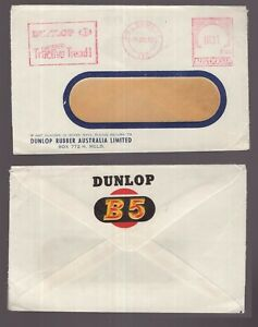 Australia-Melbourne-postage-paid-1957-DUNLOP-advertising-cover-with-logo