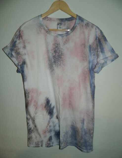 Tie Dye T Shirt acid wash Tee Festival Rave House Music Dance Top Hipster Unisex