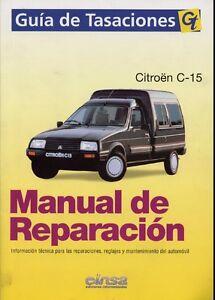 manual de taller mecanica y de reparacion citroen c15 gas y diesel rh ebay es Citroen C20 Sbarro Citroen Onyx