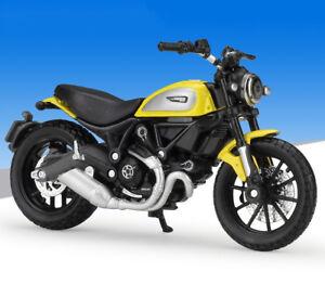 Dettagli Su 118 Maisto Ducati Scrambler Moto Bici Modello Nuovo In Scatola Mostra Il Titolo Originale