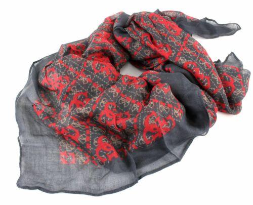 GUESS Vikki Kefiah Scarf Tuch Accessoire Red Multi Rot Schwarz Neu