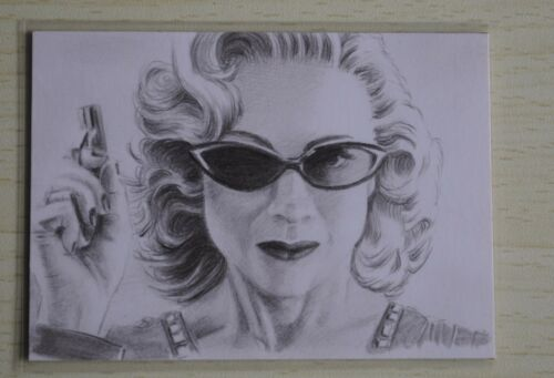 DR WHO RIVER SONG THE TIME OF THE ANGELS SKETCH CARD BY Wu Wei 2011
