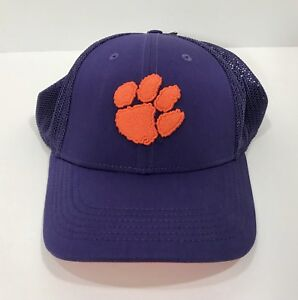 Details about Nike Clemson Tigers University Meshback Purple Fitted Hat With Orange Paw Print