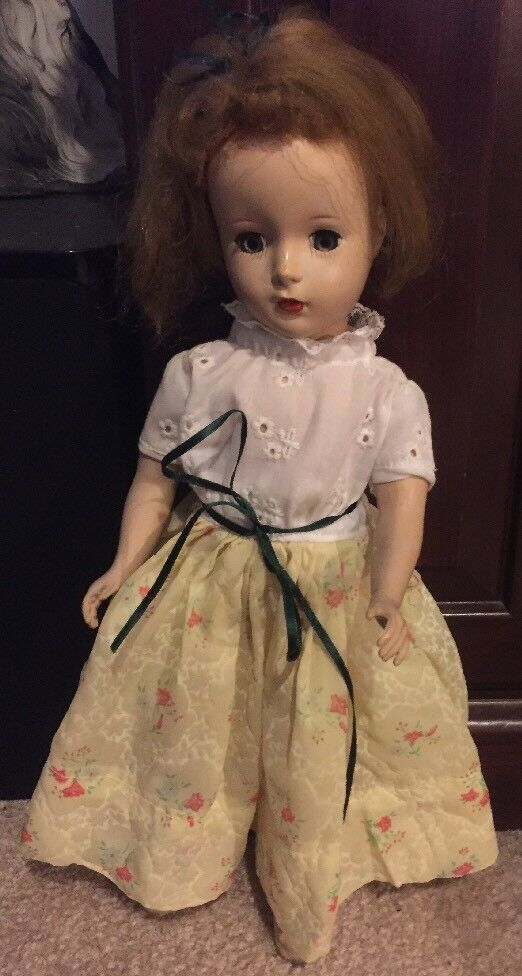 1940's 50s 14  Hard Plastic Doll  Made In The USA