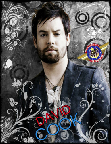 """POP Music/"""" Personalized T-shirts David Cook /""""Country"""