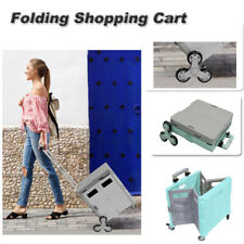 Folding Shopping Cart Generation Ladder Wheel Withsmall Table Cover Aluminum 55l