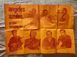 CARTEL-POSTER-GRUPO-MUSICAL-ANGELES-AZULES-ANOS-79