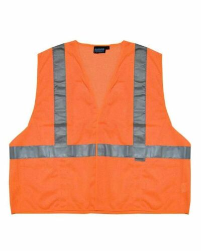 Men Womens Vest High Visibility Safety Reflective Road Work Plus Sizes