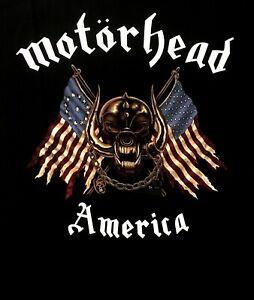 MOTORHEAD-cd-lgo-Iron-Fist-AMERICA-AMERICAN-WAR-PIG-Official-SHIRT-MED-new