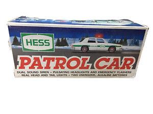 Vintage 1993 Hess Patrol Car Police Car Lights & Sirens NOS