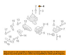 FORD OEM 10-14 Mustang Front Suspension-Strut Nut W714653S900