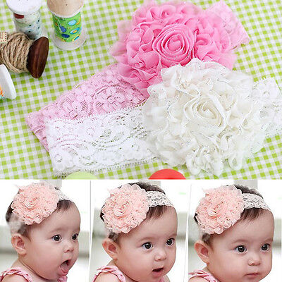 Cute Lace Flower Headwear Hair Decor Headdress Headband For Newborn Baby Kids