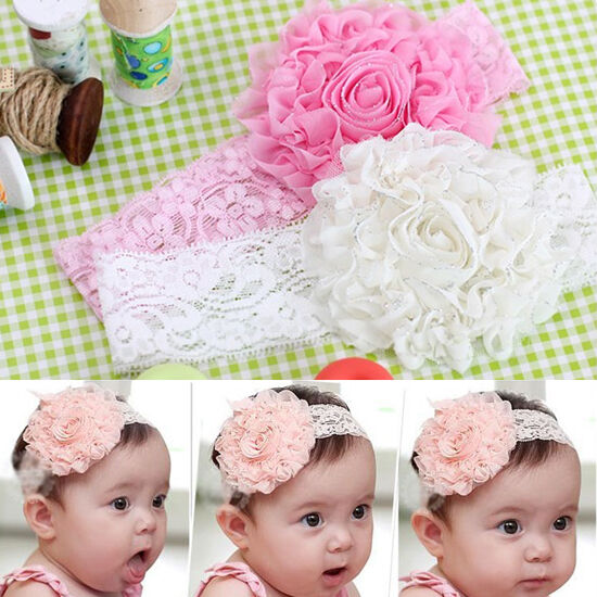Cute Lace Flower Headwear Hair Decor Headdress Headband For Newborn Baby Kids