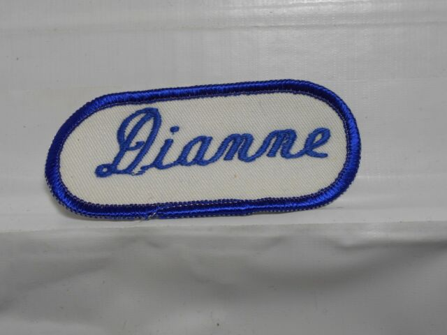 SAMUEL NAME TAG BLUE AND WHITE Iron or Sew-On Patch
