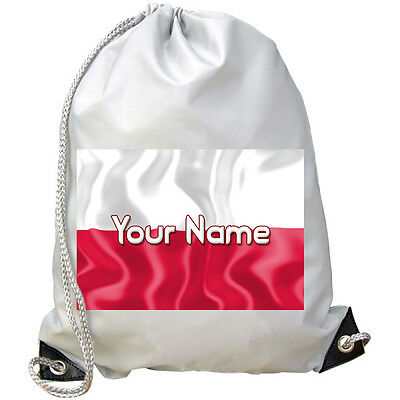 La Bandiera Personalizzata Palestra / Pe / Dance / Nuoto Borsa * Grande Con Nome Regalo *-mostra Il Titolo Originale Prezzo Basso