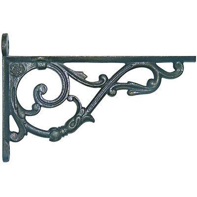 Pair of Victorian style cast iron shelf brackets.