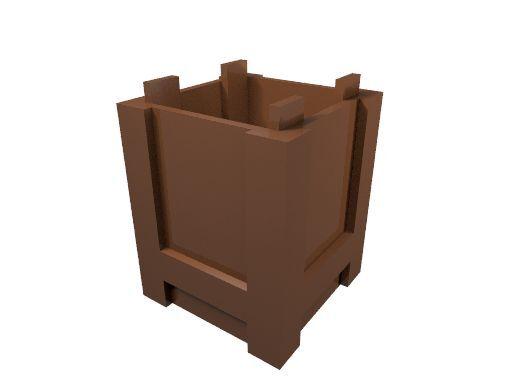 5 x [neu] LEGO Box 2 x 2 x 2 oben offen - rotbraun - 61780
