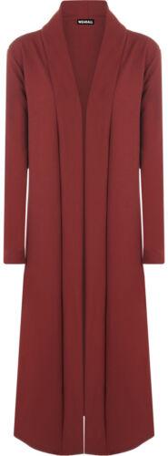 Womens Crepe Long Sleeve Open Waterfall Drape Cardigan Coat Top Ladies Jacket
