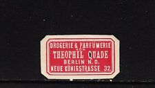 401534/ Siegelmarke - Drogerie & Parfümerie - Theophil Quade - BERLIN N.O.
