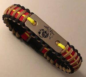 Image Is Loading Usmc Paracord Bracelet Marine Corps
