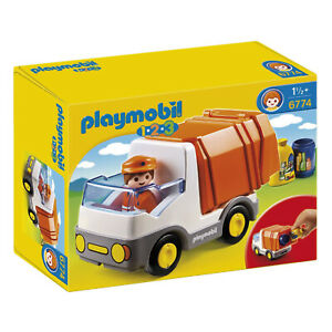 Playmobil-1-2-3-Recycling-Truck-Building-Set-6774-NEW-IN-STOCK
