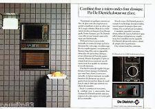 PUBLICITE ADVERTISING 056  1983  De Dietrich  le Combiné four (2p) micro ondes