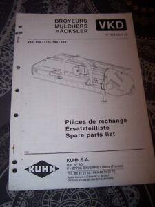 5s Catalogue Pieces Rechange Spare Parts List Broyeurs Vkd 155 170 190 210 Kuhn