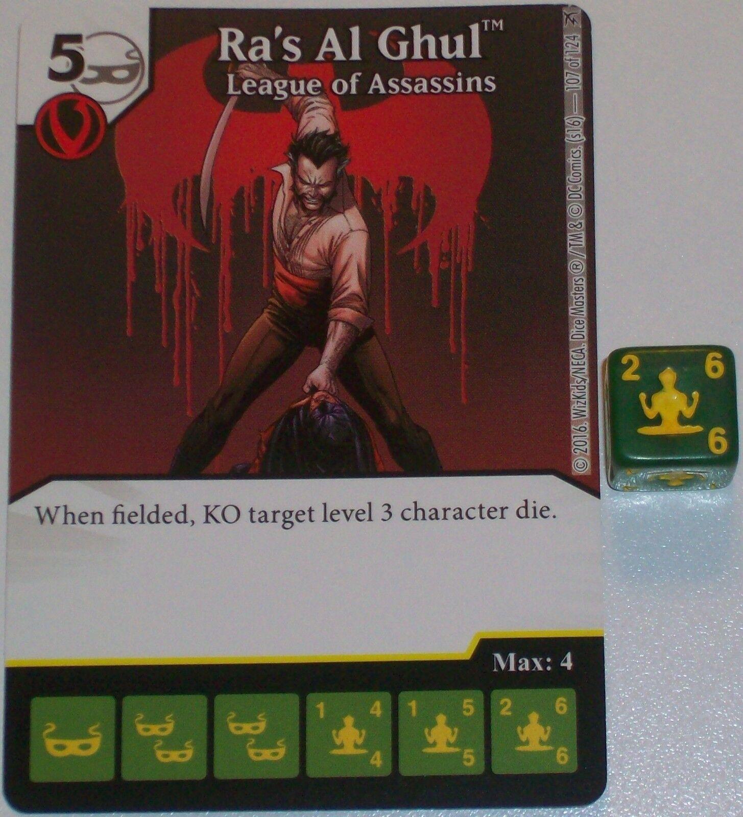 RA'S AL GHUL: LEAGUE OF ASSASSINS 107 Green Arrow & The Flash Dice Masters Rare