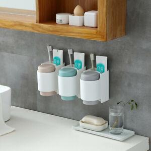 Bathroom-Toothbrush-Toothpaste-Storage-Rack-Holder-Bin-Stand-Organizer-Plastic