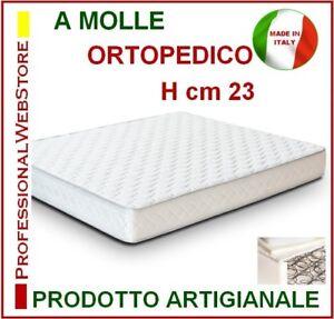 Dettagli su MATERASSO A MOLLE MATRIMONIALE BOXATO cm 180 X 210 H 23  MATERASSI misure extra
