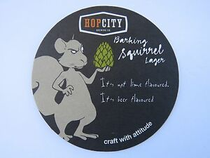 Details about Beer Coaster ~ HopCity Brewing Barking Squirrel Lager ~  Canada