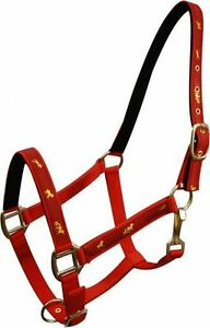 PURPLE PONY Size 2 Ply Nylon Halter w// Running Horse Overlay! NEW HORSE TACK!!