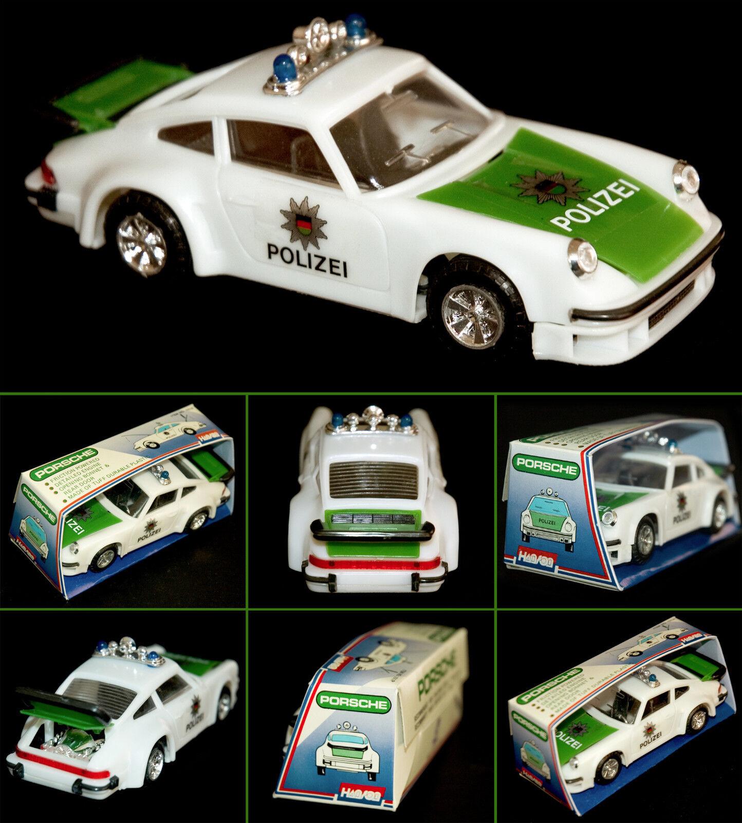 PORSCHE 911 CARRERA DEUTSCHE POLIZEI OVP HANSON HONG KONG 15 CM 70s FRICTION