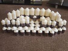 Wholesale Job Lot of £405 RRP Ivory Church Pillar Candles Wedding Centre Piece