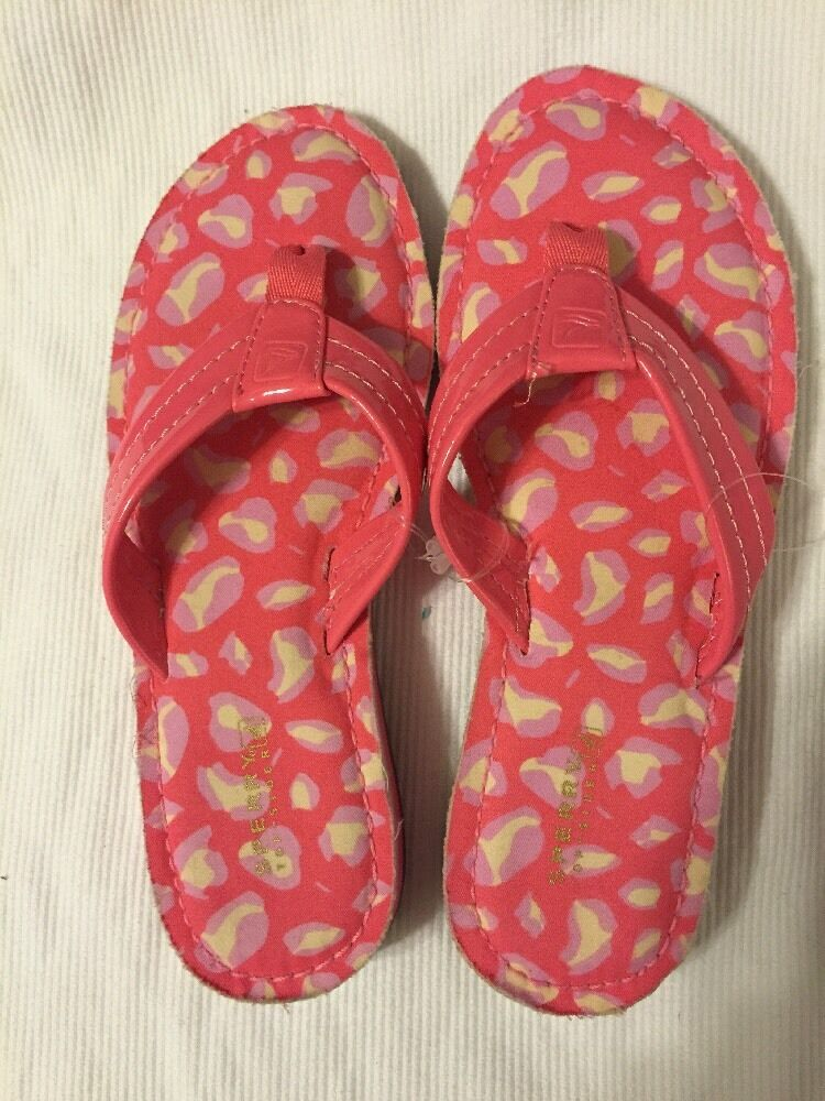 NEW PINK Sperry Top Sider Women's PINK NEW Flip Flops Whales Sandal 6M c2262b