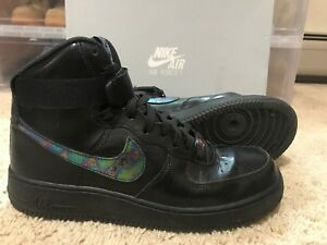 best service 0b065 57ec7 Image is loading Nike-Air-Force-1-High-07-LV8-Black-