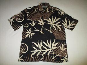Cubavera-Mens-Button-Camp-Shirt-Medium-M-Aloha-Hawaiian-Cocktail-Cuban-Rayon