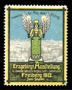 Allemagne Poster Stamp - 1912-freiberg-erzgebirgsausstellung-special Exhib.-tellung - Special Exhib.fr-fr Afficher Le Titre D'origine RéSistance Au Froissement