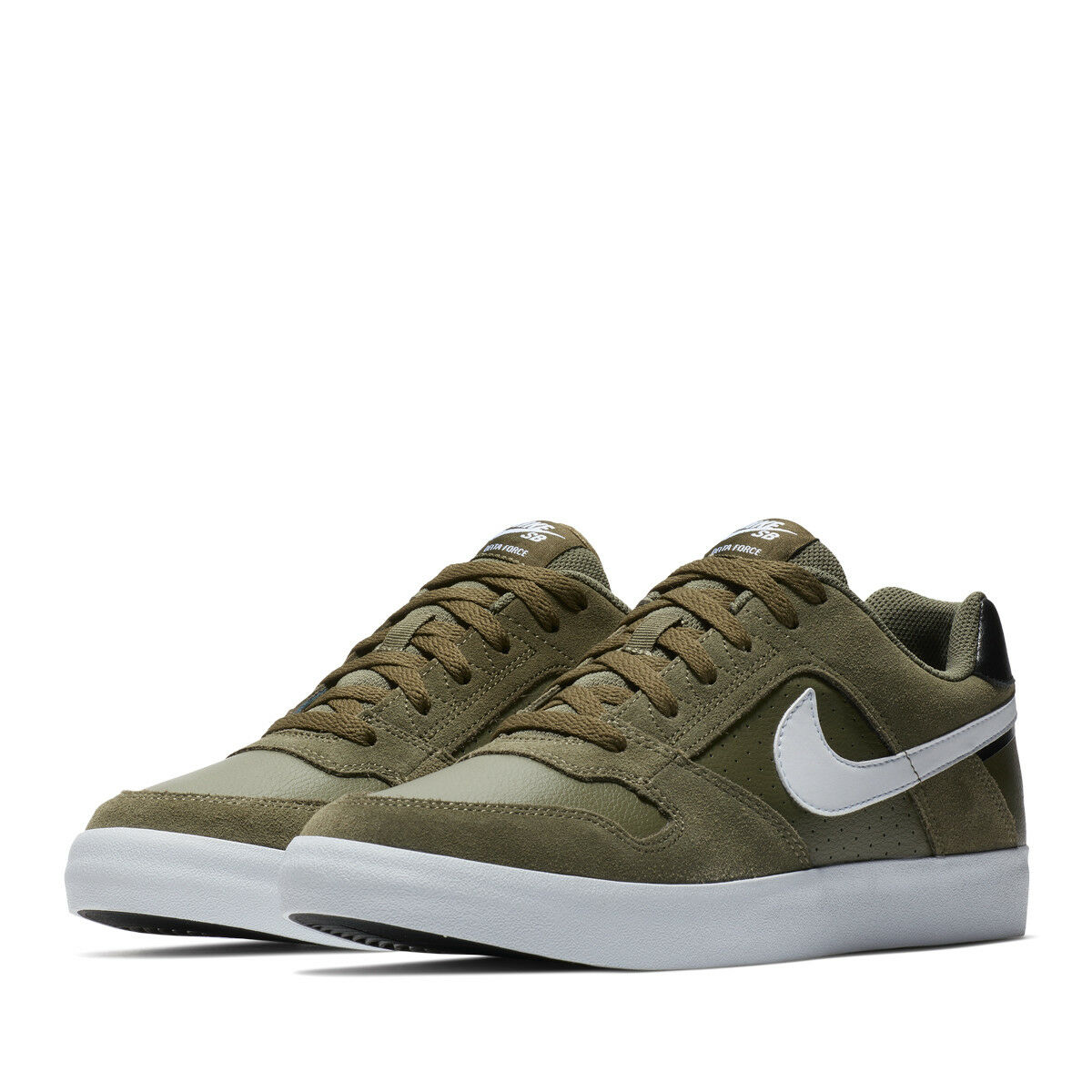 NIKE SB DELTA FORCE VULC SNEAKERS MEN SHOES OLIVE WHITE 42237-200 SIZE 10 NEW