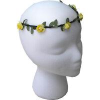 Floral Wreath Headdress Wedding Headband Flower Garland Small Yellow Rose