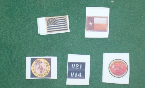1//6 scale set of Seal Team Patches from Operation Red Wings in  Afghanistan