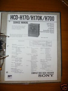 Service-manual Sony Hcd-h170/h170k/h700 Hifi-anlage,ori Tv, Video & Audio
