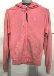 NIKE-Air-Jordan-Wings-Men-039-s-SZ-M-Fleece-Wash-Full-Zip-Hoodie-cd4551-Bright-Pink
