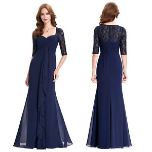 Lace Evening Formal Party Cocktail Dress Bridesmaid Wedding Prom Masquerade Gown