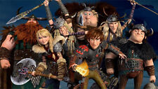 """How to Train Your Dragon 1 2 Wall Movie 21""""x13"""" Poster H21"""